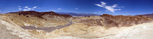 Death Valley. Panoramic view of death valley from Zabriskie Point Stock Photography