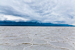 Death Valley. Salty surface Badwater in Death Valley National Park Royalty Free Stock Images
