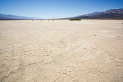 Death Valley. Dry ground and blue sky at Death Valley, California stock image