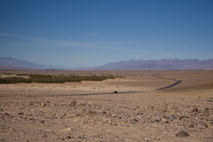 Death Valley. Lonely highway through death valley stock photo