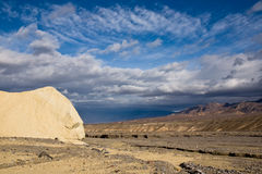 Death Valley. Cloudy sky over the desert. Death Valley National Park, California Royalty Free Stock Image