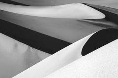 Death Valley. An abstract view of the Mesquite Dunes at Death Valley National Park Stock Photo