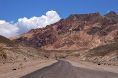 Death Valley Artist Drive Royalty Free Stock Images