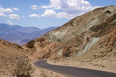 Death Valley Artist Drive Royalty Free Stock Image