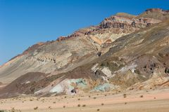 Death Valley Artist Palette Stock Image
