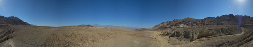 Death Valley Artist Point huge panorama view. On sunrise royalty free stock images