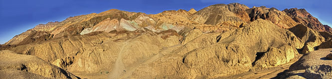 Death Valley Artist's Palate. Artist's Palate in death valley California USA formed by oxidizing of copper in the rocks royalty free stock images