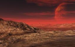 Death Valley avec une planète chaude Illustration Stock