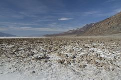 Death Valley - Bad Water Basin Stock Image