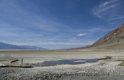 Death Valley - Bad Water Basine Stock Image