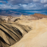 Death Valley Badlands. Badlands in Death Valley National Park, California Stock Images