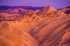 Death Valley Badlands Formation Stock Photography