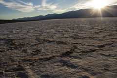 Death Valley Badwater handfat Royaltyfri Fotografi