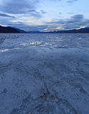 Death Valley Badwater handfat Arkivbilder