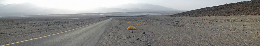 Death Valley Barren Landscape Panorama Royalty Free Stock Photos