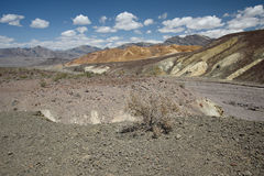 Death valley. In bright sunny day Stock Photos