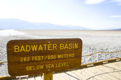 Death Valley in California stock image