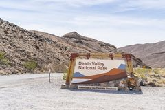 05-16-17,death valley,california,usa : death valley national par. K sign on sunny day at entrance stock photos