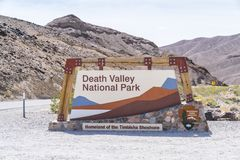 05-16-17,death valley,california,usa : death valley national par. K sign on sunny day at entrance royalty free stock photography