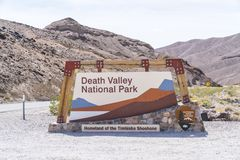 05-16-17,death valley,california,usa : death valley national par. K sign on sunny day at entrance royalty free stock image