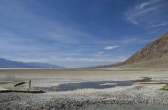 Death Valley - cattiva acqua Basine Immagine Stock