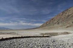 Death Valley - cattivo bacino dell'acqua Immagine Stock Libera da Diritti