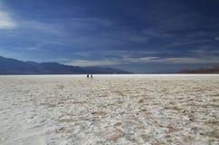 Death Valley - cattivo bacino dell'acqua Immagini Stock
