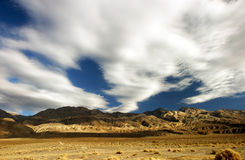 Death valley clouds 1. Mountain range near town of ballarat west of death valley, ca Royalty Free Stock Photo