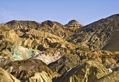 Death Valley - colinas de la gama de colores del artista Fotos de archivo libres de regalías
