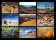 Death Valley collage Royalty Free Stock Images