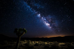 Death Valley in corso la Via Lattea Fotografia Stock