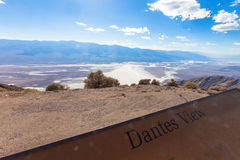 Death Valley, Dante's view Royalty Free Stock Photography