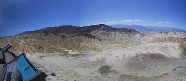 Death Valley Dantes sikt Arkivbilder