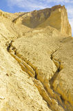 Death Valley Desert Erosion. Barren Desert Erosion Landscape Along Golden Canyon Trail in Death Valley, California Royalty Free Stock Photography