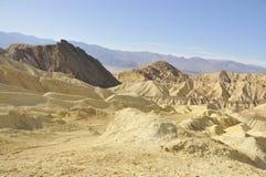 Death Valley Desert Landscape 2. Barren Desert Landscape Along Golden Canyon Trail in Death Valley, California Royalty Free Stock Photos