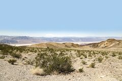 Death Valley Landscape. The Death Valley desert landscape, California Royalty Free Stock Image