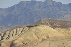 Death Valley Desert Lookout. Barren Desert Lookout at Zabriskie Point Along Golden Canyon Trail in Death Valley, California Royalty Free Stock Image