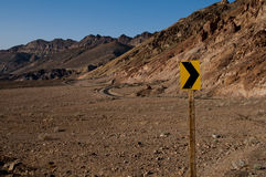 Death valley desert sign Stock Images