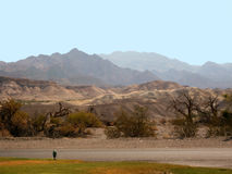 Death Valley dessert and mountains Royalty Free Stock Photos