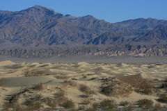 Death Valley; dunes & mountain Royalty Free Stock Photo