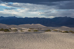 Death Valley Dunes panorama. Death Valley stiched panorama from mountain Stock Image