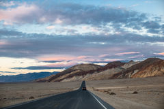 Death valley dusk drive Stock Image