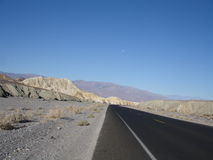 Death Valley empty road Stock Photography
