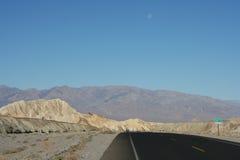 Death Valley empty road Stock Photos