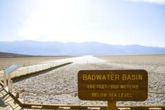Death Valley en California Imagen de archivo libre de regalías