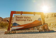 Death Valley Entrance Sign Royalty Free Stock Image