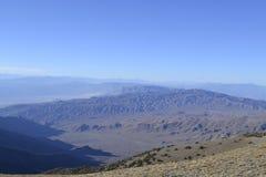 Death Valley från teleskopmaximumet Arkivbilder