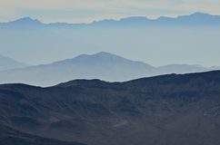 Death Valley hazy mountains Stock Images