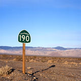 Death Valley Highway Royalty Free Stock Photography