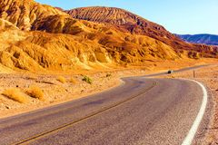 Death Valley Highway Stock Images